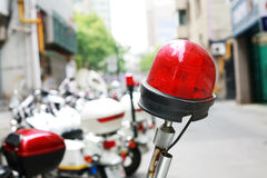 Police motorcycle Light. Police motorcycle with red Light Royalty Free Stock Images