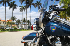 Police motorcycle in Palm Beach, Florida Royalty Free Stock Photo