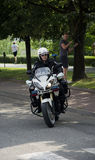 Police on a motorcycle Royalty Free Stock Photography