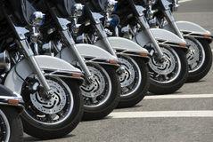 Police Motorcycles Stock Photo