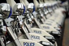Police Motorcycles. On parade at National Police Memorial Service in Ottawa, Canada Royalty Free Stock Photography