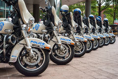 Police motorcycles Stock Images