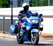 Police motorcycles and the COP that controls the road Stock Photography