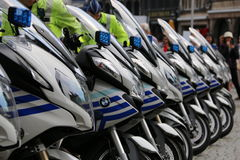 Police Motorcycles. Stock Photography