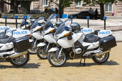 Police motorcycles Royalty Free Stock Photos