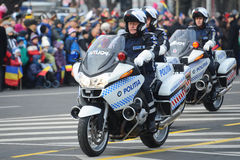 Police motorcycles Stock Photography