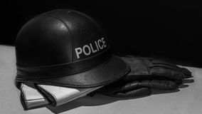 Police Motorcyclist Protective wear Stock Image