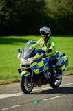 Police Motorcyclist, UK Royalty Free Stock Photos