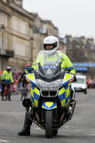 Police motorcyle officer,UK. Royalty Free Stock Images