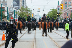 Police, mounted police, and SWAT Stock Images