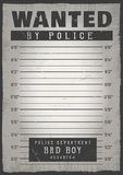Police mugshot background. Police mugshot. Add a photo. Vector illustration stock illustration