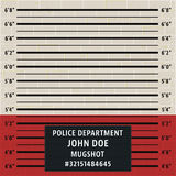 Police mugshot template Royalty Free Stock Photography