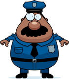 Police Mustache. A cartoon illustration of an police officer with a mustache Royalty Free Stock Photography