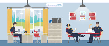 Police office room. Stock Image