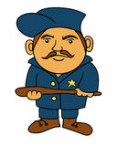 Police officer. A cartoon of a police man Vector Illustration