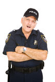 Police Officer - Amazed Royalty Free Stock Photo