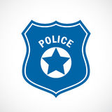 Police officer badge icon Stock Image