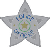 Police Officer Badge Royalty Free Stock Images