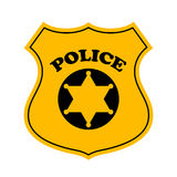 Police officer badge vector icon Royalty Free Stock Photo