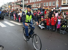 Police Officer on Bike Royalty Free Stock Image
