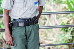 Police officer in Central America on duty. Stock Photos