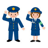Police officer of children Stock Photos