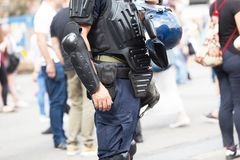Police officer. Counter-terrorism. Stock Photo