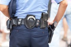 Police officer on duty Stock Images