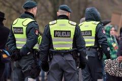 Police officer on duty, Vilnius Royalty Free Stock Image