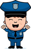 Police Officer Excited Royalty Free Stock Image