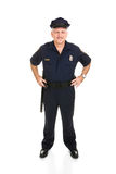 Police Officer Full Body Front Royalty Free Stock Images