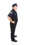 Police Officer Full Body Profile. Handsome mature police officer in profile.  Full body isolated on white Stock Photo
