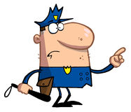 Police officer gestures with finger Royalty Free Stock Image