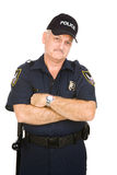 Police Officer Grumpy Royalty Free Stock Photography