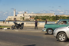Police officer Havana Royalty Free Stock Photography