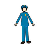 Police officer icon image Stock Image