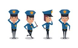 Police officer icons cartoon. Icon vector illustration graphic Royalty Free Stock Photos