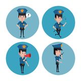 Police officer icons cartoon. Icon vector illustration graphic Stock Photos
