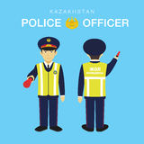 Police Officer in Kazakhstan Royalty Free Stock Photos