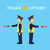 Police Officer in Kazakhstan-3 Royalty Free Stock Photography