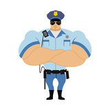 Police officer. Man in form of policing. Police man in bodybuild Stock Photography