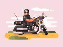 Police officer on motorcycle Stock Photography