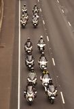 Police Officer Motorcyle escort Stock Photos