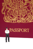 Police officer passport A Stock Photography