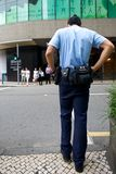 Police officer patrolling Stock Photo