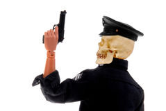 Police officer skull head Royalty Free Stock Image