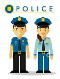 Police officer in uniform Stock Image