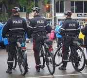 Police Officers On Bicycles Royalty Free Stock Image