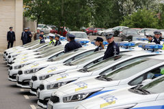 Police officers cars Royalty Free Stock Photos