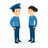 Police officers couple. Royalty Free Stock Photos